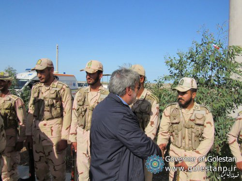 It was welcomed by the Gomishan governor,Visit of the Minister of Interior and Golestan Governor from the border checkpoints of Gomishan city