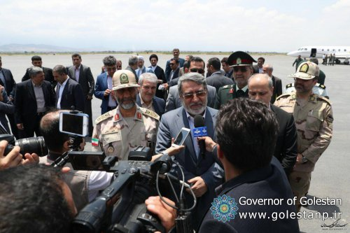 Minister of the Interior at the time of his arrival in Gorgan, reporters: Golestan province has a very good security situation